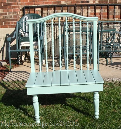 green (crib) bench