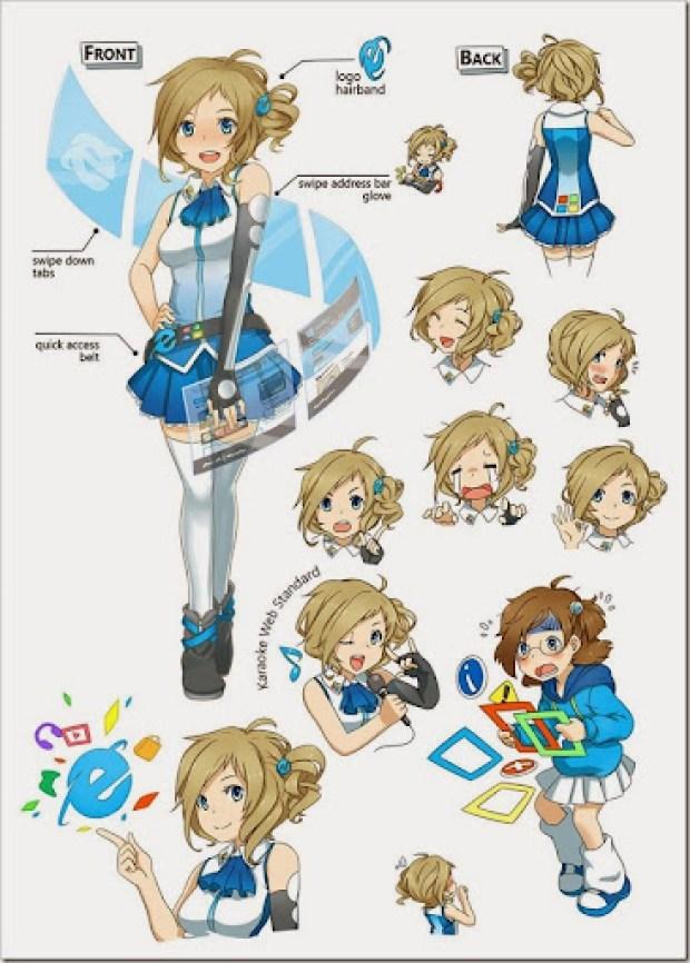 Inori Aizawa Internet Explorer Tan