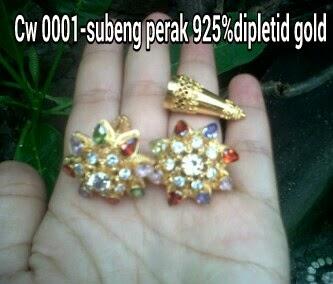 Subeng perak 925% dipletid gold