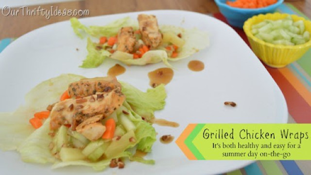 Grilled Chicken Wraps - These are super healthy and easy for even a meal on-the-go this summer. #MealsTogether