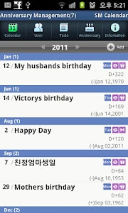 SM Calendar Lite(Schedule) screenshot 4
