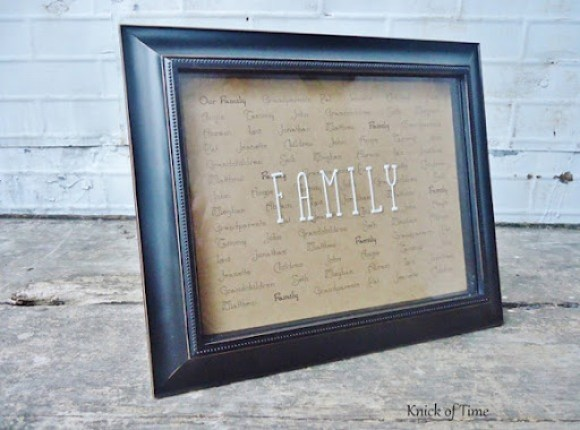 Family Names Framed Print
