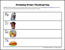 Stamping Strips First Thanksgiving