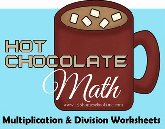 hot chocolate math Multiplication and Division Worksheets
