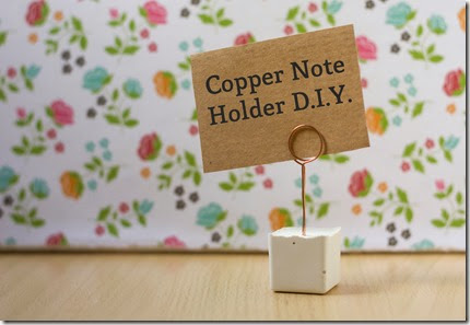 Copper Note Card Holder Tutorial