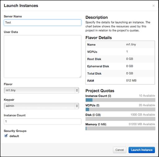 Openstack launch