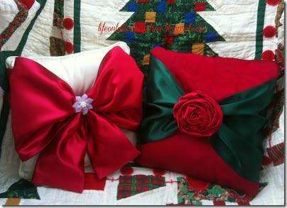 no sew Christmas pillows