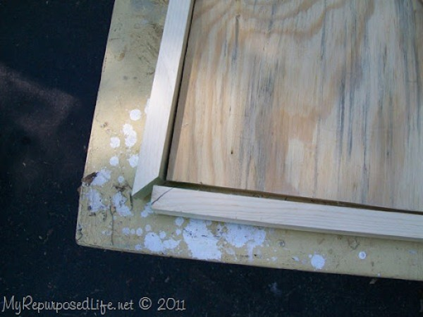 frame out raw edges of plywood