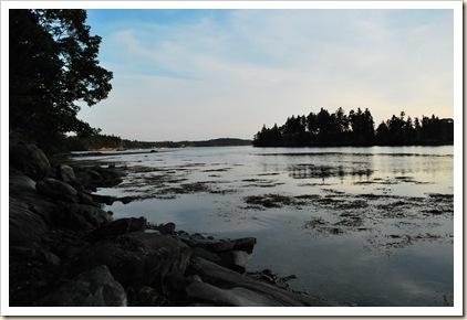 middle tide sunset