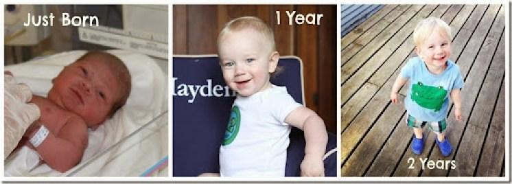 Hayden2yearcollage
