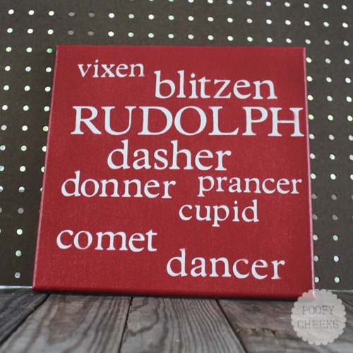 Reindeer Name Canvas Decor