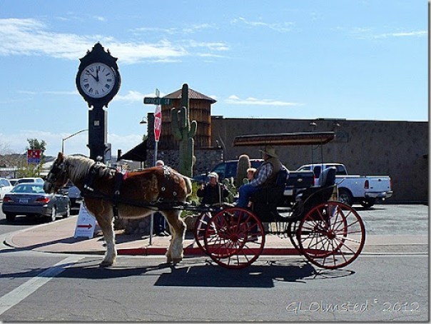 Horse drawn buggy at Gold Rush Days Wickenburg Arizona