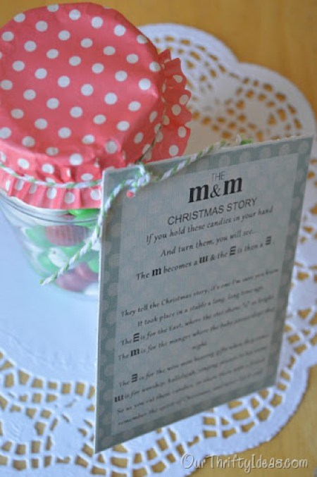 Our Thrifty Ideas: The M&M Story Neighbor Gift Idea