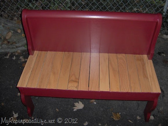 sleigh bed foot board bench