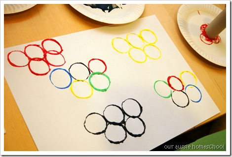 Olympic Rings Painting