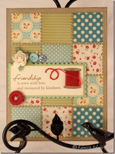 quilted friendship card