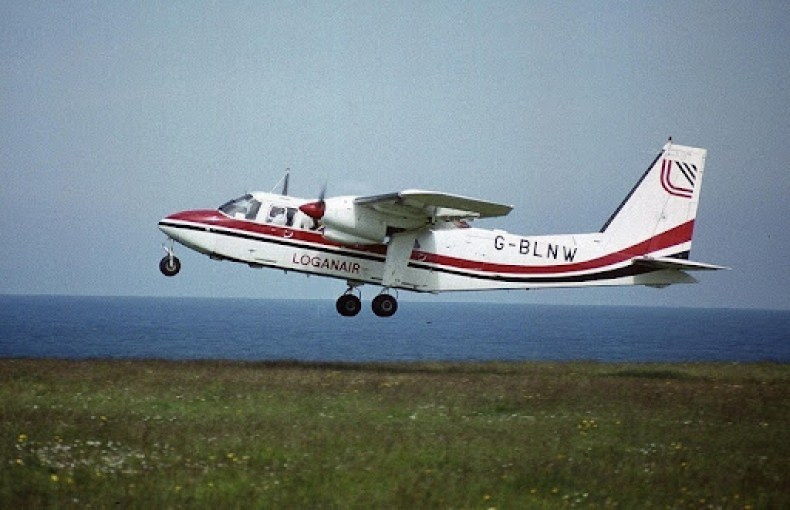 a photo of the airplane G-BLNW