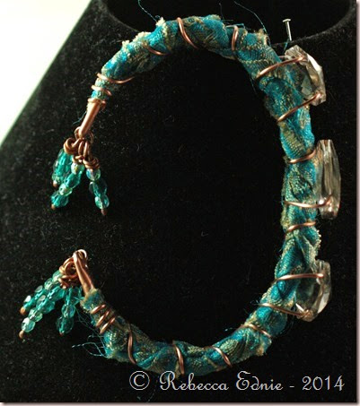 boho copper n crystal bracelet2