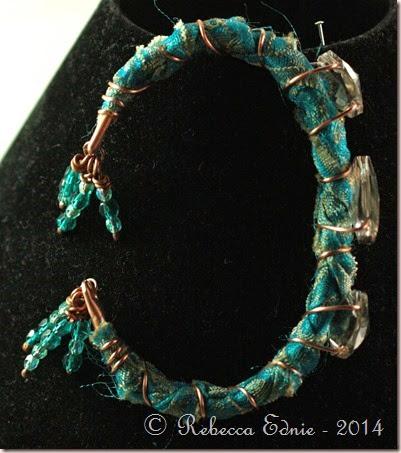 boho copper n crystal bracelet2