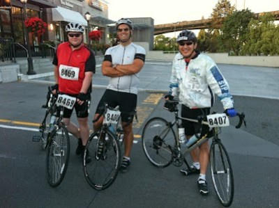 3 of us before the start