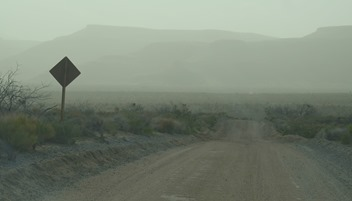 Mid Hills Road in the dust storm