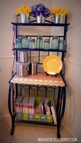 bakers rack restyle with martha stewart