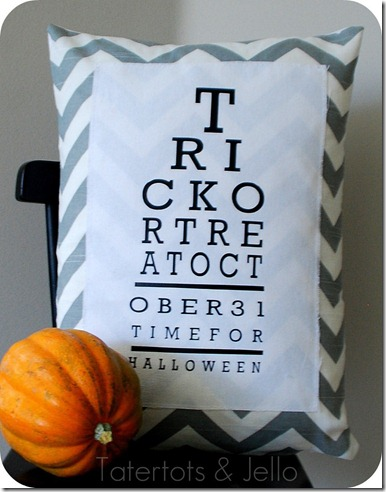 halloween eye chart pillow