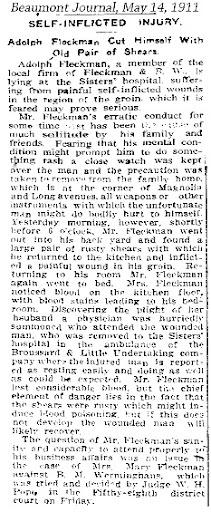 AFleckman-1911-05-14Paper-Beaumont Journal