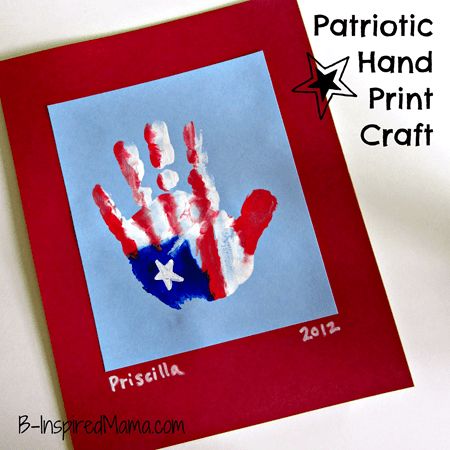 Patriotic Hand Print Craft 2