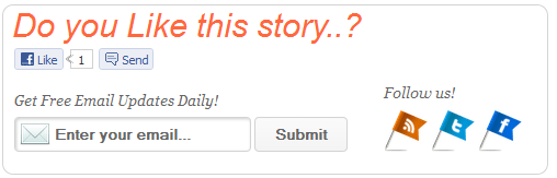 do you like this story? blogger widget
