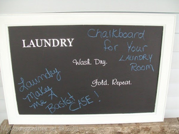laundry room chalkboard