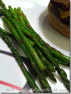 Grilled Asparagus splashed with Nakano Seasoned Rice Vinegar
