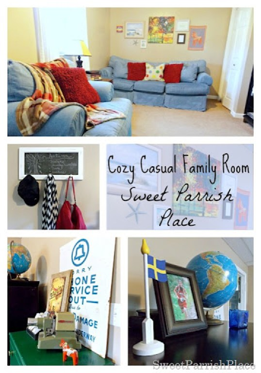 cozy casual family room