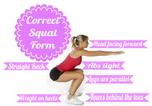 Squat form how to do squats