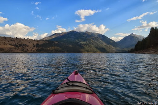 evening kayak on Wallowa Lake
