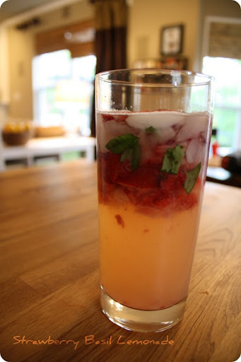 strawberry basil lemomade