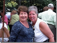Kay and Karen, co-owner of Red Rock RV Park, Henry's Lake, ID