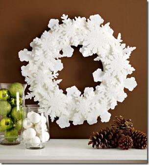 Winter wreath--white snowflake wreath