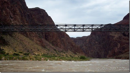 Bright Angel Suspension Bridge ~RM88.4 Colorad River trip Grand Canyon National Park Arizona
