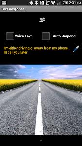 Text Response screenshot 1
