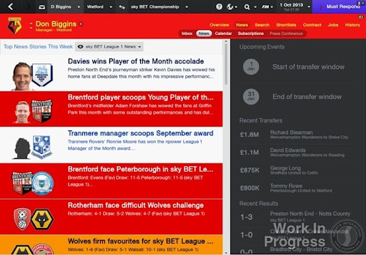 Football Manager 2014 News