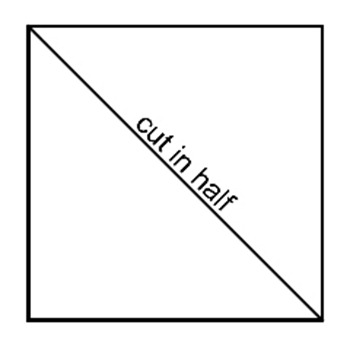 cut in half