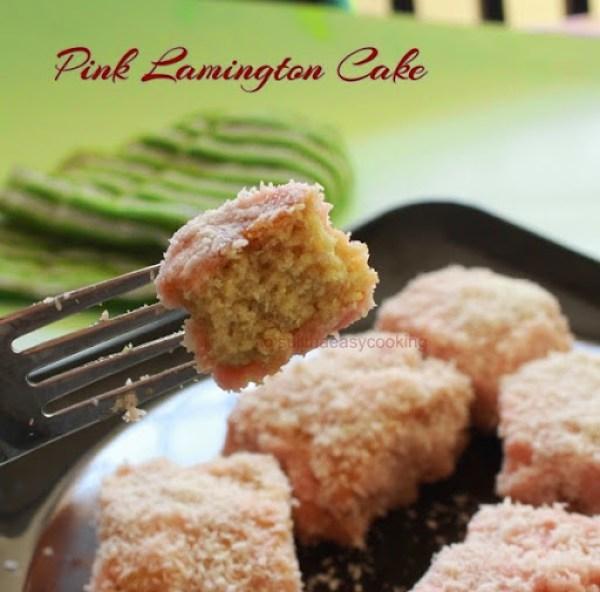 Pink Lamington Cake1