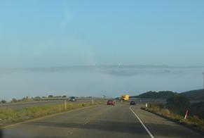 morning fog as we leave Vandenberg
