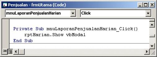 48 - Script Menu Laporan Harian
