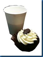 coffee and chocolate cupcake