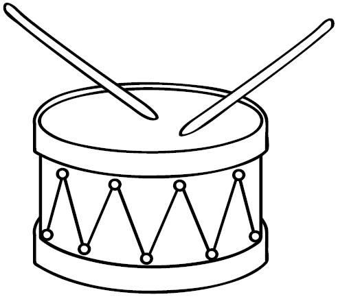 coloring pages drum coloring