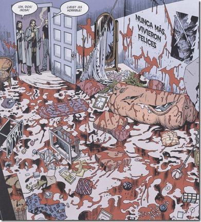 Escena del primer número, escena del asesinato de Rosa Roja