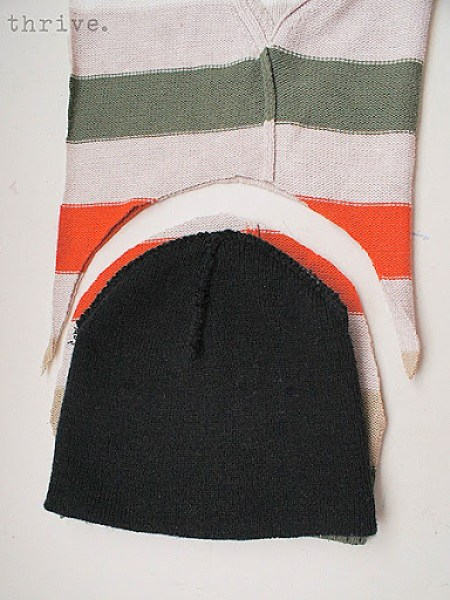 Make mittens & hats out of old sweaters - choose-to-thrive.com
