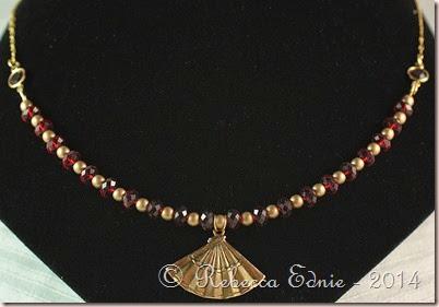 fan siam briolettes necklace